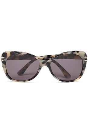 ROLAND MOURET Round silver-tone printed acetate sunglasses