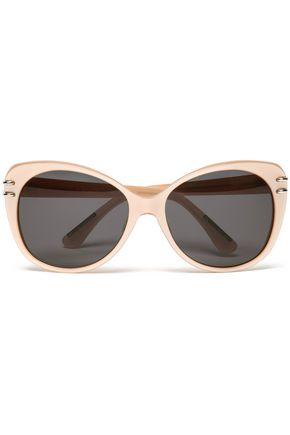 ROLAND MOURET Cat-eye acetate and silver-tone sunglasses