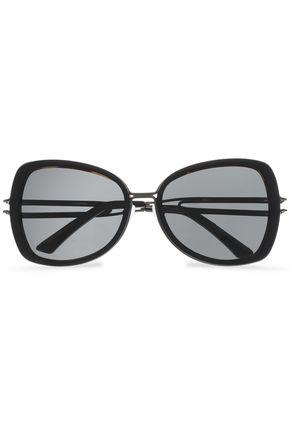ROLAND MOURET D-frame gunmental-tone sunglasses