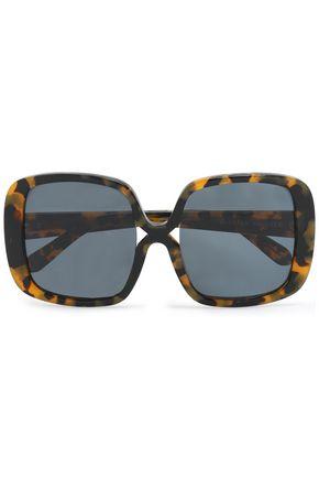KAREN WALKER Square-frame tortoiseshell acetate sunglasses