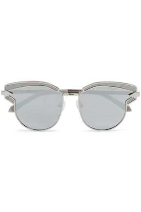 KAREN WALKER D-frame acetate and silver-tone sunglasses