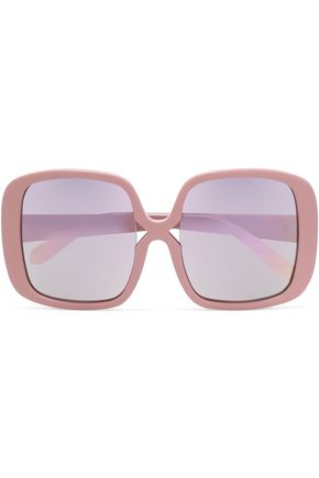 KAREN WALKER Square-frame acetate sunglasses