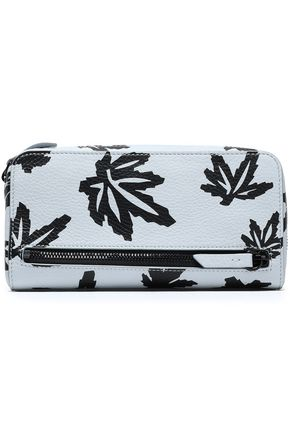 ALEXANDER WANG Printed textured-leather pouch