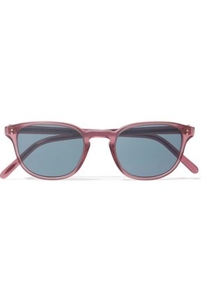 WOMAN FAIRMONT SUN ROUND-FRAME ACETATE SUNGLASSES PINK