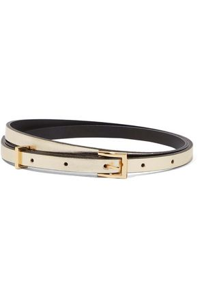 SANDRO Paris Cara metallic leather belt