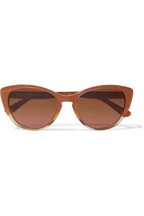 OLIVER PEOPLES Haley cat-eye printed acetate sunglasses
