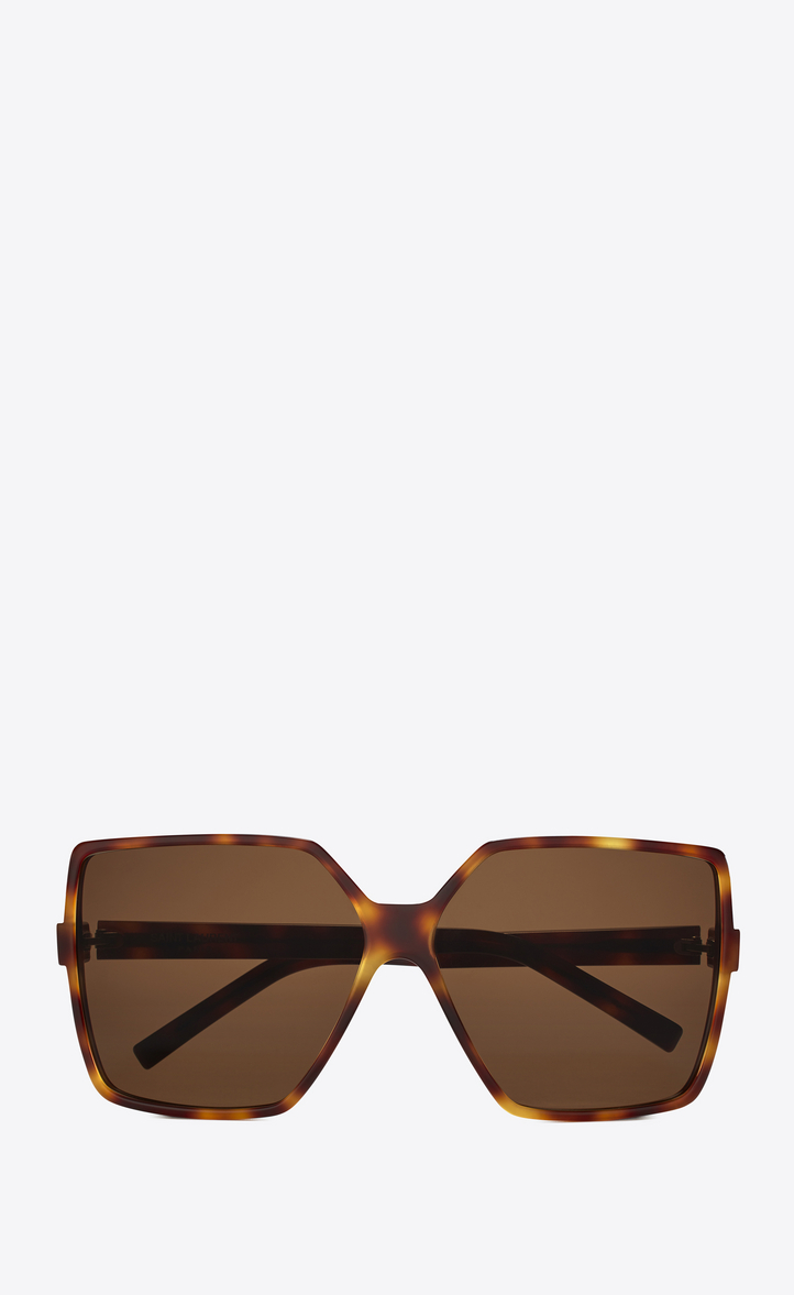 NEW WAVE 232 BETTY SUNGLASSES IN HAVANA ACETATE WITH TOBACCO-COLORED LENSES