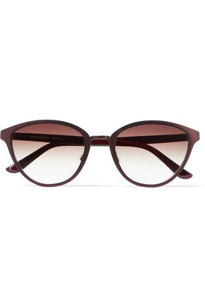 OLIVER PEOPLES Annaliesse cat-eye embossed metal and acetate sunglasses