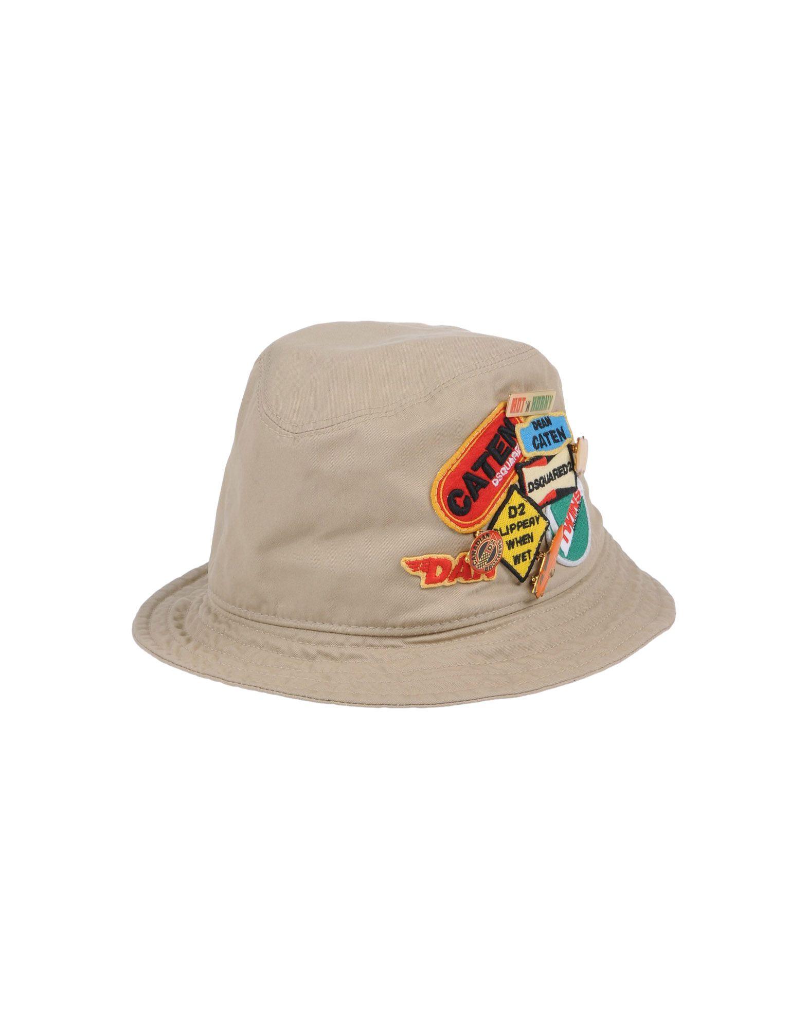 《送料無料》DSQUARED2 メンズ 帽子 ベージュ S コットン 100%