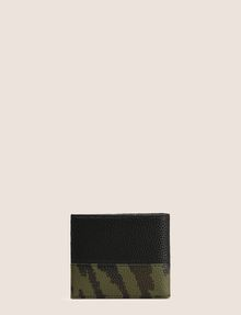 ARMANI EXCHANGE CAMO MOTIF TEXTURED BILLFOLD Small leather good Man d