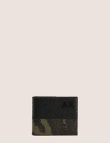 ARMANI EXCHANGE CAMO MOTIF TEXTURED BILLFOLD Small leather good Man f