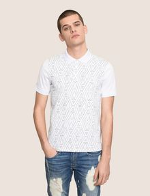 ARMANI EXCHANGE GEOMETRIC LOGO POLO SHORT SLEEVES POLO Man f