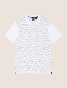 ARMANI EXCHANGE GEOMETRIC LOGO POLO SHORT SLEEVES POLO Man r
