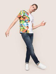 ARMANI EXCHANGE STREET ART SERIES RUBEN SANCHEZ CREWNECK TEE Non-Logo Tee Man d