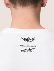 ARMANI EXCHANGE STREET ART SERIES BIKOPS CREWNECK TEE Non-Logo Tee Man b