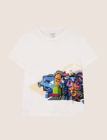 ARMANI EXCHANGE STREET ART SERIES BIKOPS CREWNECK TEE Non-Logo Tee Man r