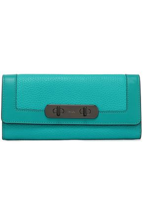 COACH Pebbled-leather continental wallet