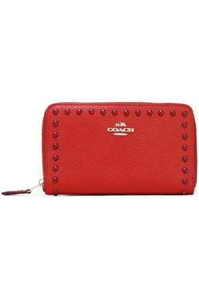 COACH Studded textured-leather wallet