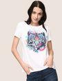 ARMANI EXCHANGE WOMENS STREET ART SERIES ALEX LEHOURS TEE Non-Logo Tee Woman a