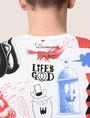 ARMANI EXCHANGE STREET ART SERIES LESJEANCLODE V-NECK TEE Non-Logo Tee Man b