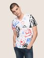 ARMANI EXCHANGE STREET ART SERIES LESJEANCLODE V-NECK TEE Non-Logo Tee Man f