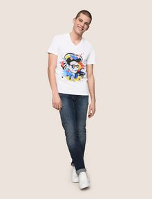 ARMANI EXCHANGE STREET ART SERIES VALENTINA BROSTEAN V-NECK TEE Non-Logo Tee Man d