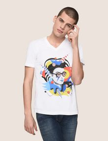 ARMANI EXCHANGE STREET ART SERIES VALENTINA BROSTEAN V-NECK TEE Non-Logo Tee Man f