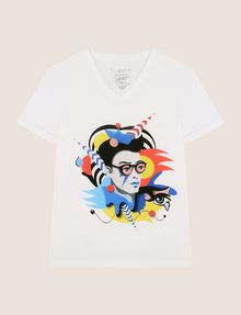 ARMANI EXCHANGE STREET ART SERIES VALENTINA BROSTEAN V-NECK TEE Non-Logo Tee Man r