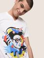 ARMANI EXCHANGE STREET ART SERIES VALENTINA BROSTEAN V-NECK TEE Non-Logo Tee Man a
