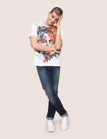 ARMANI EXCHANGE STREET ART SERIES ALEX LEHOURS CREWNECK TEE Non-logo Tee Man d