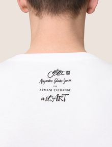 ARMANI EXCHANGE STREET ART SERIES ALEJANDRO CANTANO GARCIA CREW Non-logo Tee Man b