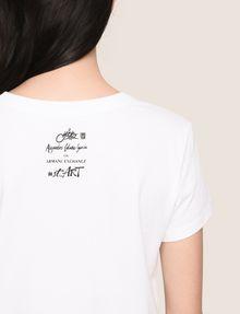 ARMANI EXCHANGE WOMENS STREET ART SERIES ALEJANDRO CANTANO GARCIA TEE Logo T-shirt Woman b
