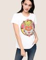 ARMANI EXCHANGE WOMENS STREET ART SERIES ALEJANDRO CANTANO GARCIA TEE Logo T-shirt Woman a