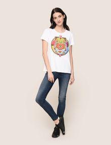 ARMANI EXCHANGE WOMENS STREET ART SERIES ALEJANDRO CANTANO GARCIA TEE Logo T-shirt Woman d