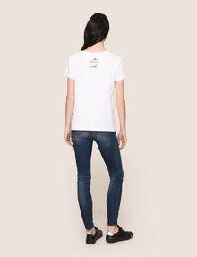 ARMANI EXCHANGE WOMENS STREET ART SERIES ALEJANDRO CANTANO GARCIA TEE Logo T-shirt Woman e
