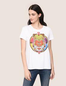 ARMANI EXCHANGE WOMENS STREET ART SERIES ALEJANDRO CANTANO GARCIA TEE Logo T-shirt Woman f