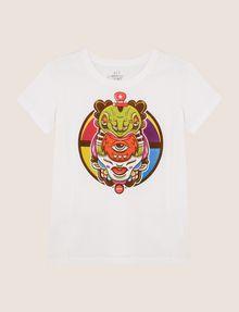ARMANI EXCHANGE WOMENS STREET ART SERIES ALEJANDRO CANTANO GARCIA TEE Logo T-shirt Woman r