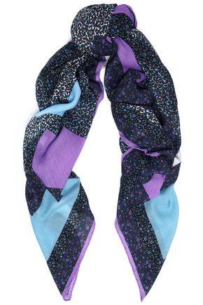 COACH Printed wool-twill scarf