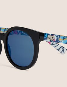 ARMANI EXCHANGE STREET ART SERIES ALEX LEHOURS ROUND SUNGLASSES Sunglass [*** pickupInStoreShipping_info ***] d
