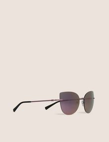 ARMANI EXCHANGE PINK MIRROR FRAMELESS CAT-EYE Sunglass Woman f
