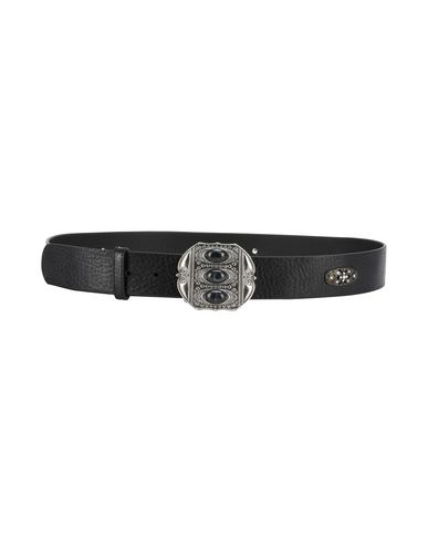 THE KOOPLES レディース ベルト ブラック 1 牛革(カーフ) LEATHER BELT WITH STONES AND METAL DETAILS