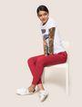 ARMANI EXCHANGE MULTI-METALLIC LOGO JOGGER Fleece Pant Woman a