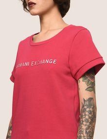 ARMANI EXCHANGE RAISED METALLIC LOGO SWEATSHIRT TOP Fleece Top Woman b