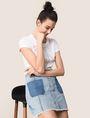 ARMANI EXCHANGE GLITTER WAVE LOGO TEE Non-logo Tee Woman a