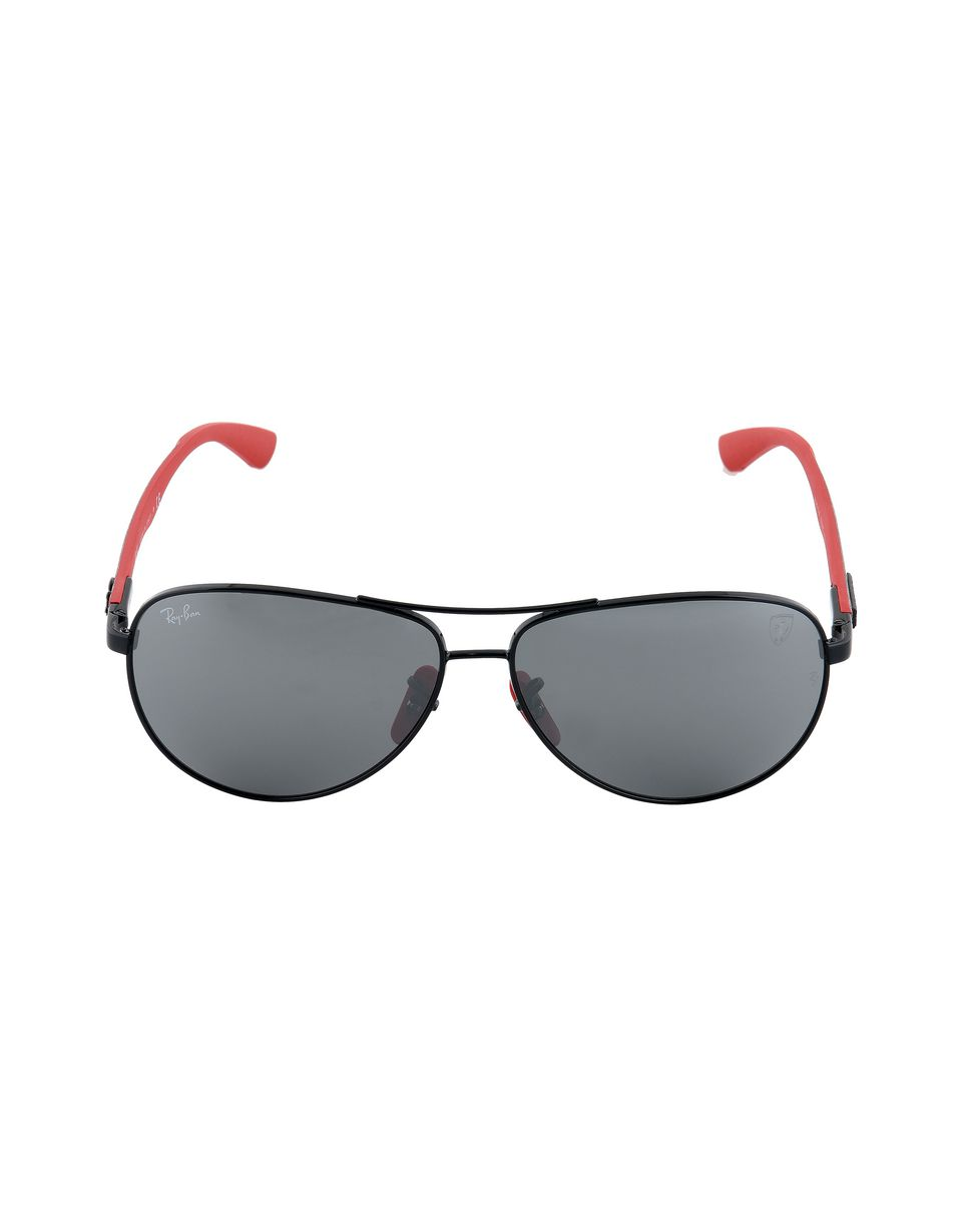 Scuderia Ferrari Online Store - Ray-Ban x Scuderia Ferrari Aviator Carbon Fiber Black 0RB8313M - Sunglasses