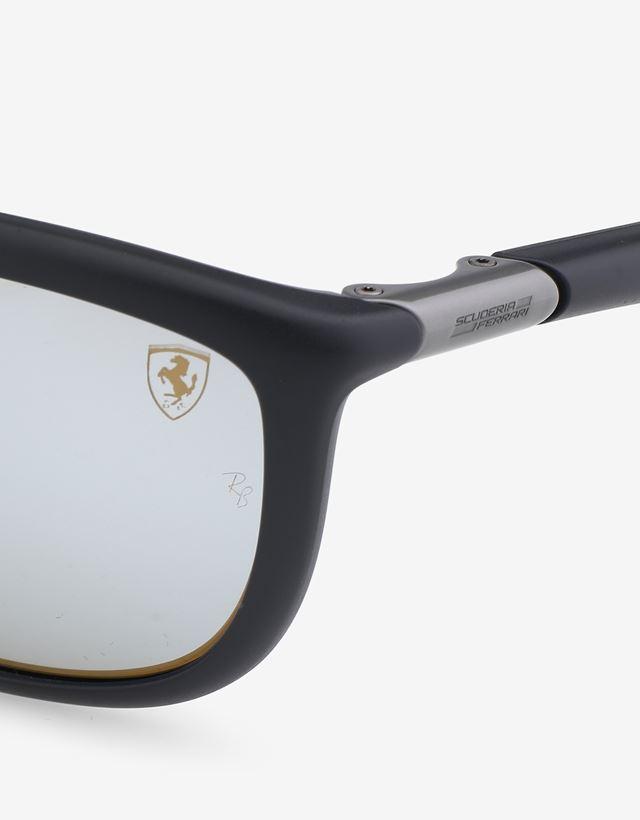 Scuderia Ferrari Online Store - 雷朋法拉利车队合作系列哑光黑色太阳眼镜 0RB8351M - 太阳镜