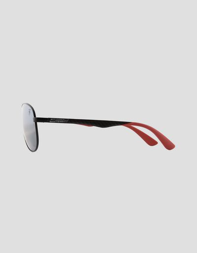 Scuderia Ferrari Online Store - Ray-Ban x Scuderia Ferrari Aviator Carbon Fibre Matte Black 0RB8313M - Sunglasses