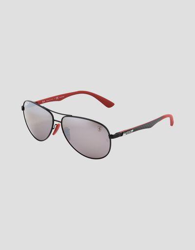 f93e0818b0d8f Lunettes de soleil Ray-Ban for Scuderia Ferrari Aviator en fibre de carbone  couleur noir ...