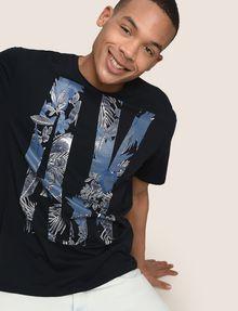 ARMANI EXCHANGE OVERSIZED FLORAL LOGO TEE Logo T-shirt Man a