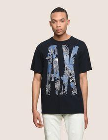 ARMANI EXCHANGE OVERSIZED FLORAL LOGO TEE Logo T-shirt Man f